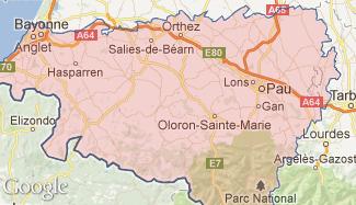 Plan des Pyrénées-Atlantiques