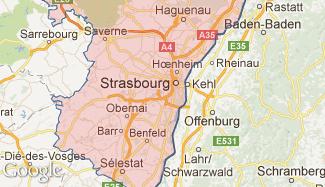 Plan du Bas-Rhin
