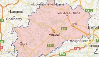 Plan de la Haute-Saône