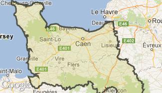Plan de la Basse-Normandie