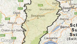 Plan de la Franche-Comté