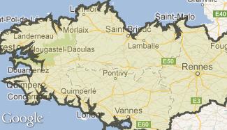 Plan de la Bretagne