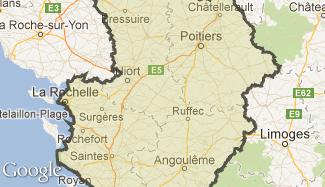 Plan du Poitou-Charentes