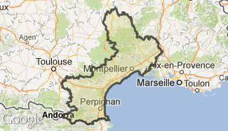Plan du Languedoc-Roussillon