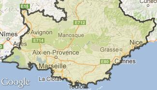 Plan de la Provence-Alpes-Côte d'Azur
