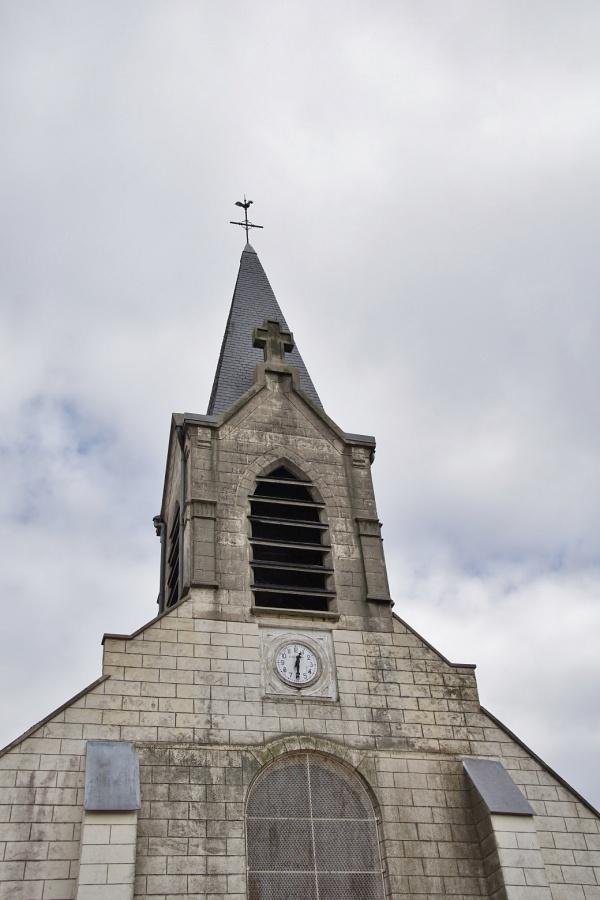 Photo Abbécourt - le clocher église St jean Baptiste