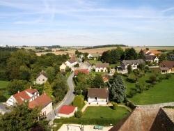 Photo paysage et monuments, Chézy-en-Orxois - Chézy-en-Orxois rue de la gare vue du haut de l'église