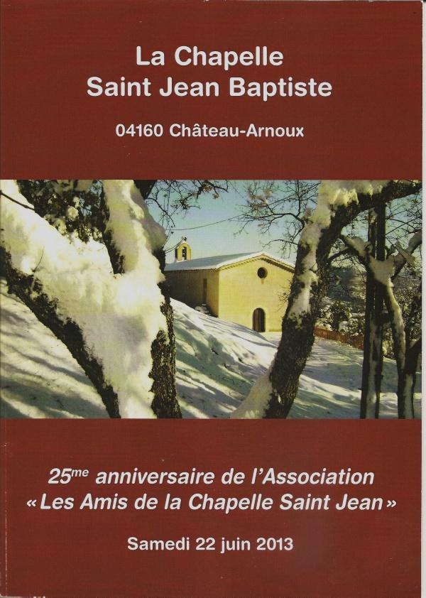 Historique et rénovation de la chapelle Saint Jean-Baptiste