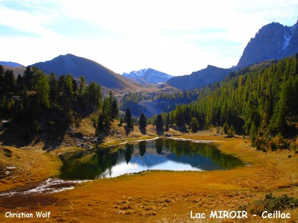 Un matin dans le Queyras ...le Lac Miroir en septembre