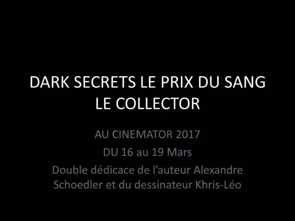 DARK SECRETS LE PRIX DU SANG -THRILLER-CINEMATOR-2017