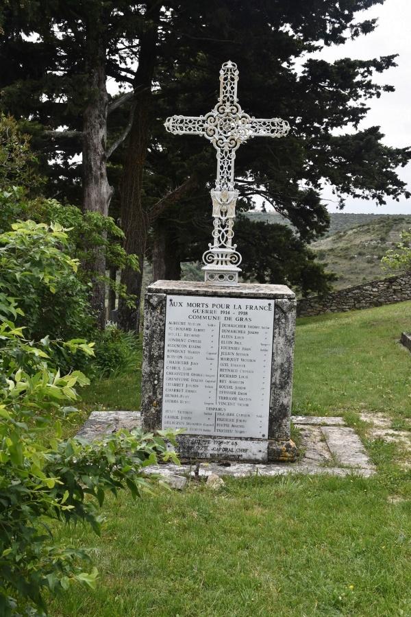 Photo Gras - le Monument Aux Morts