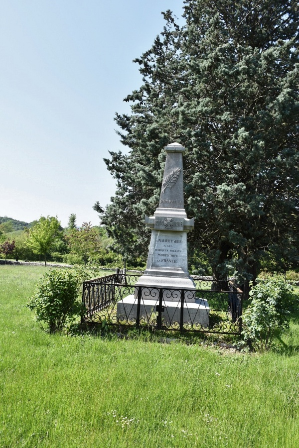 Photo Saint-Maurice-d'Ibie - le Monument Aux Morts