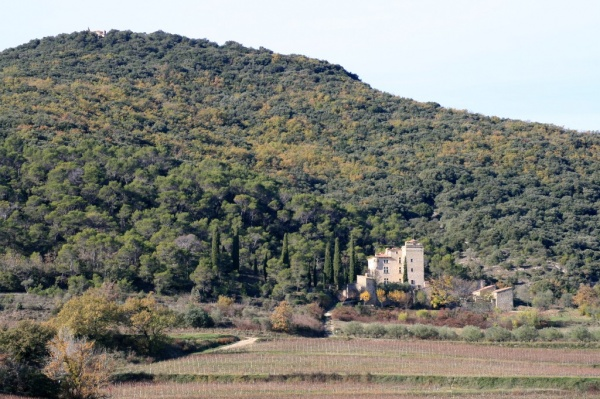 La Tour de Cruzières ... dominée par la Chapelle