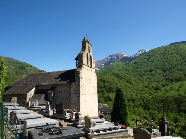 Photo Bethmale - Ayet en Bethmale - Eglise Saint-Michel - Clocher mur