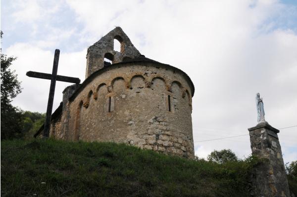 Photo Les Bordes-sur-Lez - Chapelle Notre-Dame d'Aulignac - Chevet