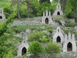 Photo paysage et monuments, Le Mas-d'Azil - Raynaude - Le calvaire derrière Eglise  de l'Immaculée Conception