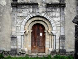 Photo paysage et monuments, Moulis - Église  Notre-Dame de l'Assomption - portail roman