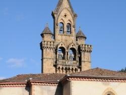 Photo paysage et monuments, Seix - Seix - Église Saint Etienne - Clocher mur vu du Salat