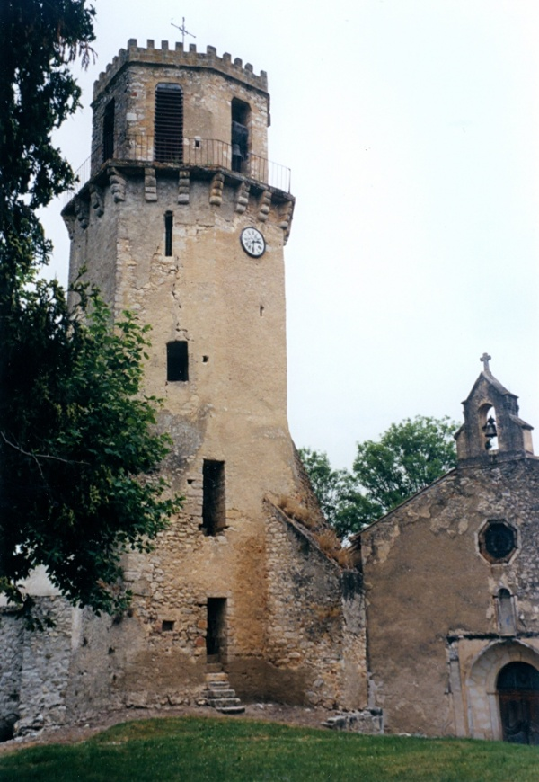 Photo Tourtouse - Tourtouse - Le donjon-clocher