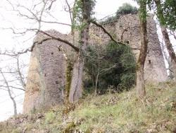 Photo paysage et monuments, Ustou - vue du château de la garde