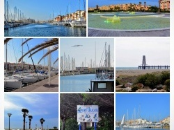 Photo paysage et monuments, Leucate - Port-Leucate. Montage photos.