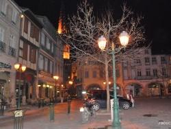 Photo paysage et monuments, Limoux - place de la République vue de nuit