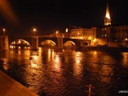 Photo paysage et monuments, Limoux - LIMOUX Le pont-neuf et l'église saint martin