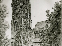 Photo dessins et illustrations, Rodez - cathédrale dessin de Gilbert soulié