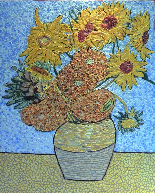 Arles - Les tournesols 6/7 .Influence,Vincent Van Gogh .