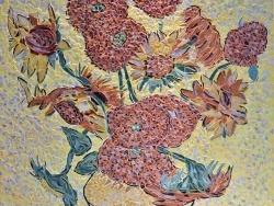 Photo dessins et illustrations, Arles - Arles -Les tournesols 7/7.Influence,Vincent Van Gogh.