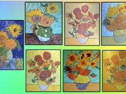 Photo dessins et illustrations, Arles - Arles - Les tournesols  .Influence,Vincent Van Gogh .
