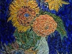 Photo dessins et illustrations, Arles - Arles - Les tournesols 3/7 .Influence,Vincent Van Gogh .