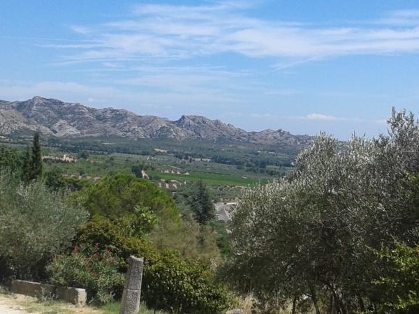 Vue depuis Les Baux de Provence