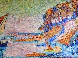 Photo dessins et illustrations, Marseille - Marseille;La Calanque, influence Paul Signac. Mosaïque émaux de Briare . Août 20