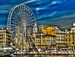 Photo paysage et monuments, Marseille - La Grande Roue de Marseille (vieux-port)