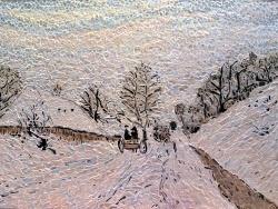 Photo dessins et illustrations, Honfleur - La Charrette, Influence Claude Monet.Mosaïque en émaux de Briare.