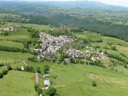 Photo paysage et monuments, Apchon - Aérienne Apchon
