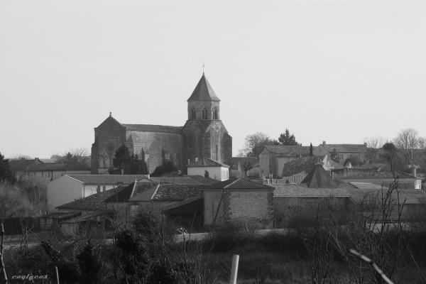 Photo Champagnac - Le bourg vu des vignes.