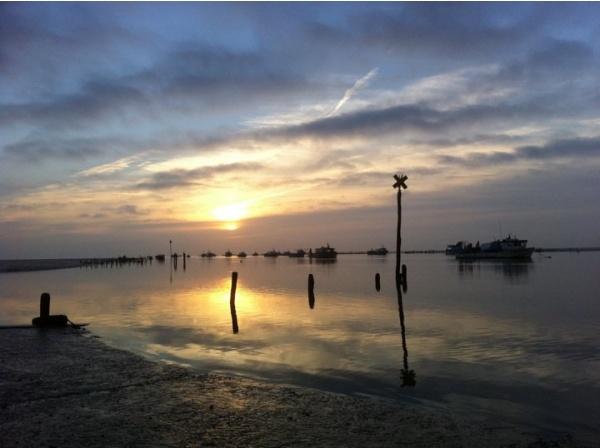 Photo Charron - coucher de soleil au pavé