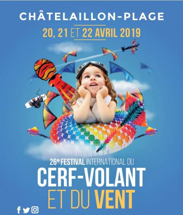 Affiche festival du cerf-volant