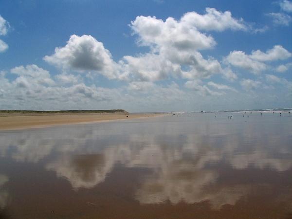 marée basse à la grande plage