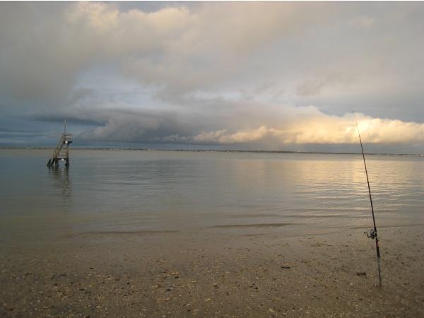 peche sur la petite plage