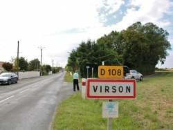 Photo paysage et monuments, Virson - Entrée du Village
