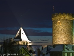 Photo paysage et monuments, Allassac - Eglise fortifiée et tour César