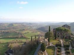 Photo paysage et monuments, Turenne - vue de la tour de César