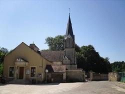 Photo paysage et monuments, Léry - Place du village - Eglise - Mairie