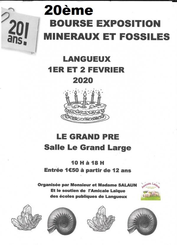 affiche bourse aux minéraux et fossiles