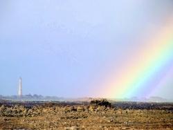 Photo paysage et monuments, Pleubian - Pleubian - Arc-en-ciel pour un phare
