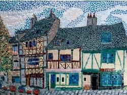 Photo dessins et illustrations, Saint-Brieuc - Saint-Brieuc, Côtes d'Armor, France. Rue Fardel. Mosaïque émaux de Briare.
