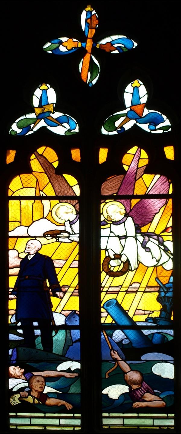 Ancienne cathédrale Saint-Tugdual - Vitrail du Bouvet